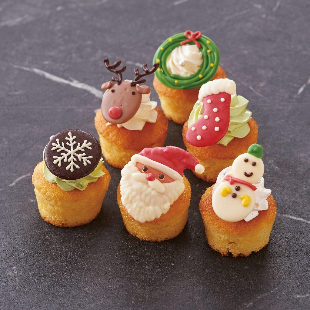 クリスマスカップケーキの画像