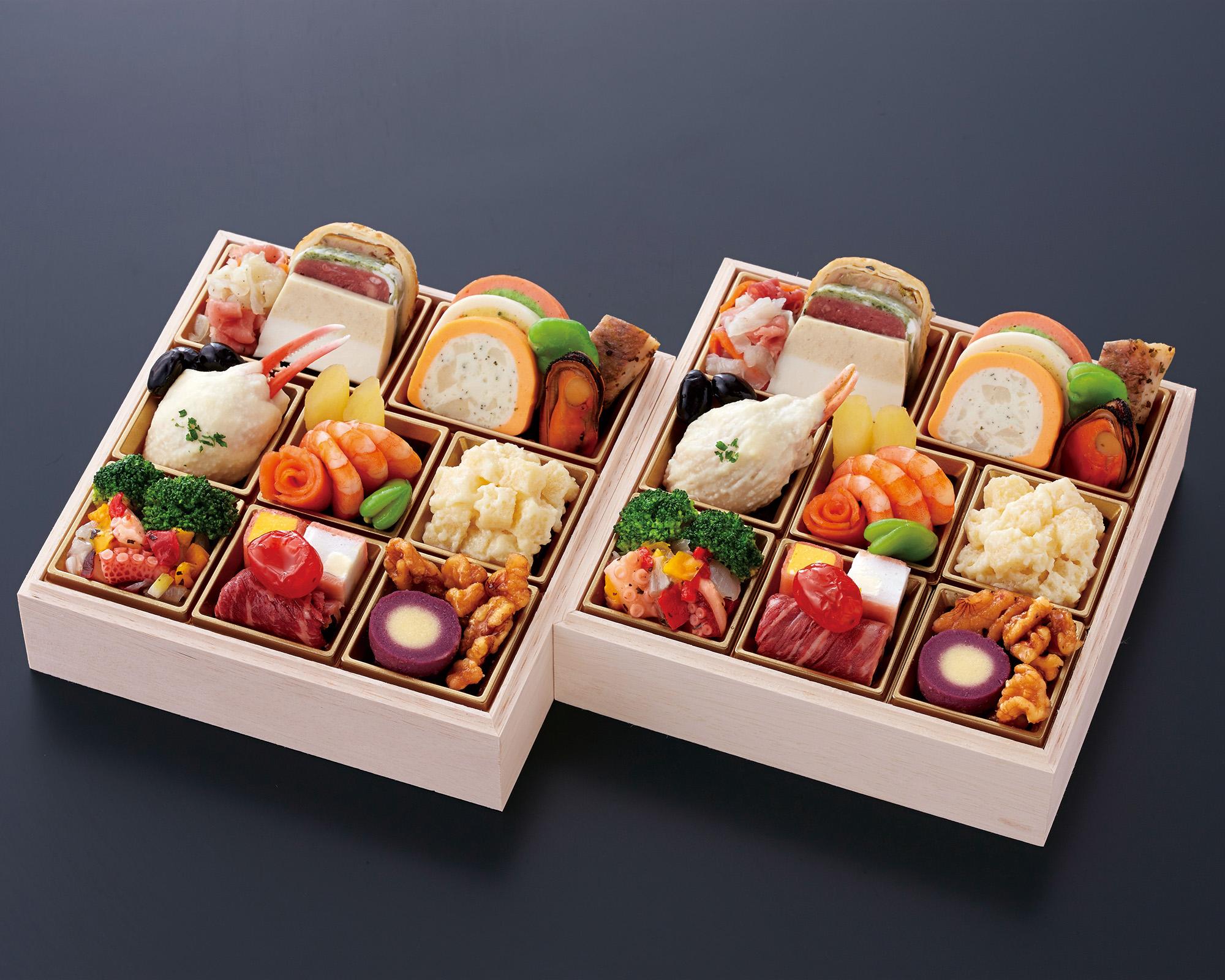おせち料理 洋風 二段重 個食二客セット (2名様用)画像