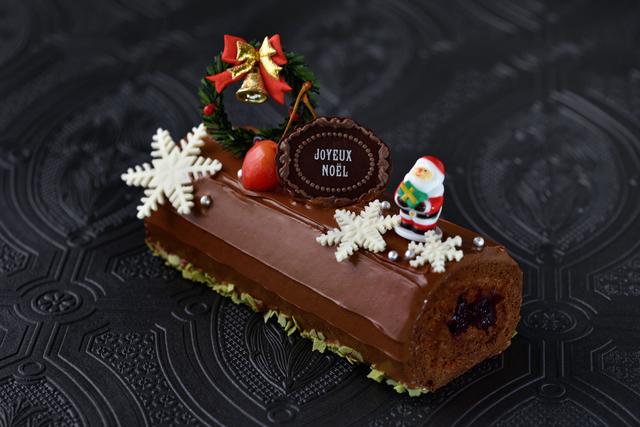 【早期予約¥300 OFF】チョコレートチェリーロールケーキの画像