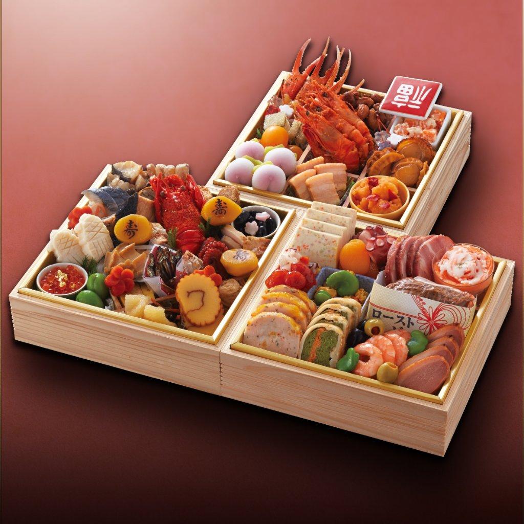 おせち料理 神戸たん熊北店コラボ 和洋中 三段重 (3~4名様用)の画像