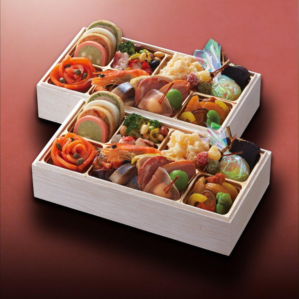 おせち料理 洋風 二段重 個食二客セット (2名様用)の画像