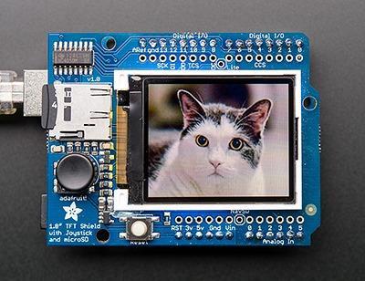 Adafruit 1.8インチTFTシールドの画像