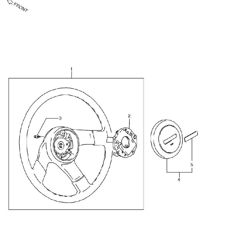2型~5型Aステアリングホイール ジムニー JA11の画像
