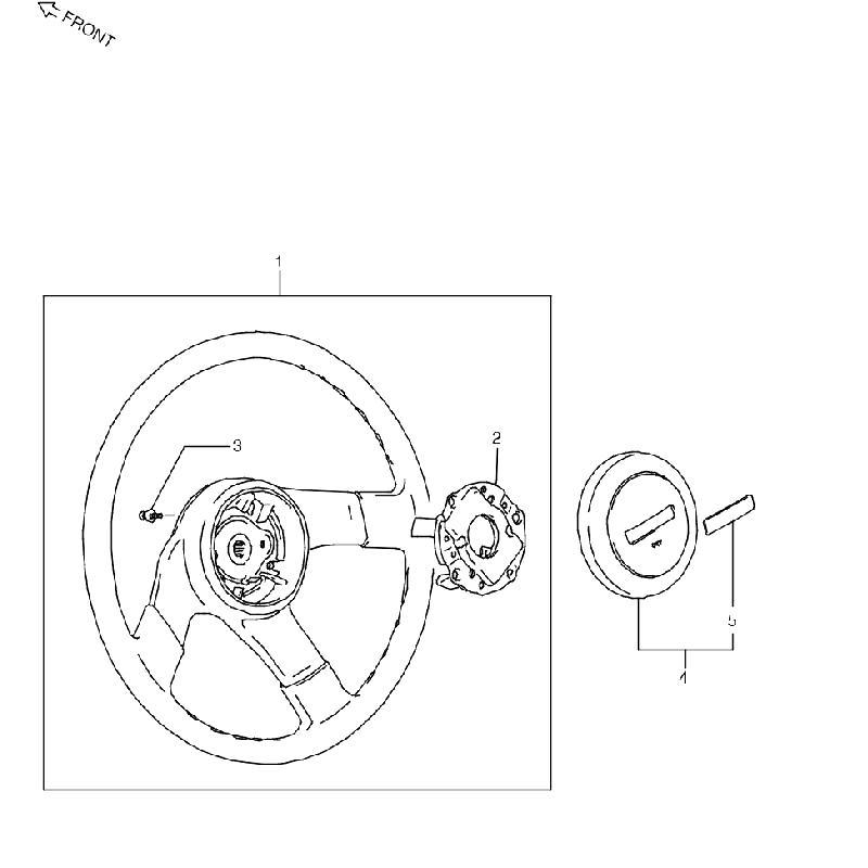 2型~5型 ステアリングホイール ジムニー JA11の画像