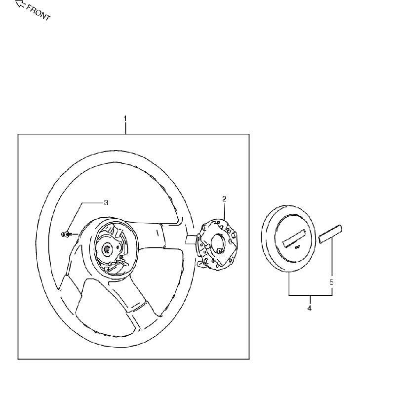 2型・4型 ステアリングホイール ジムニー JA11の画像
