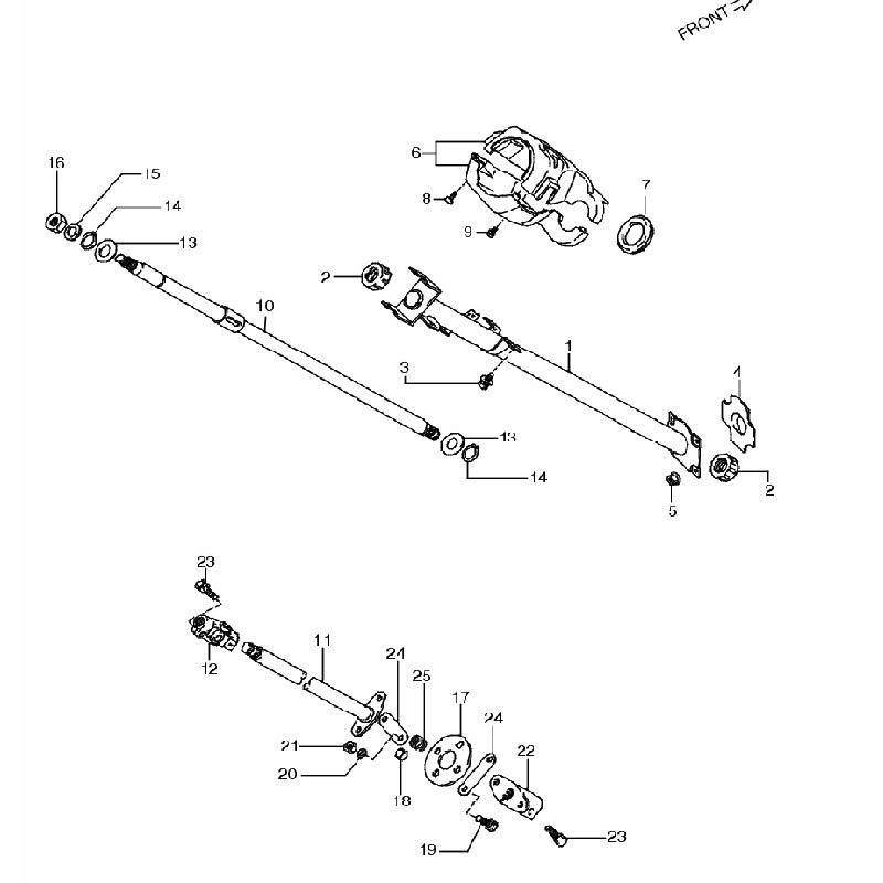 1型・2型 ステアリングコラム 車体番号100001~150000 ジムニー JA11の画像