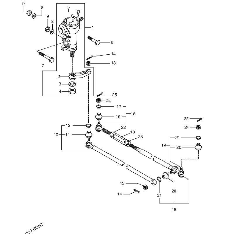 ステアリングユニット パワーステアリングナシ ジムニー JA11 G,B,Hの画像