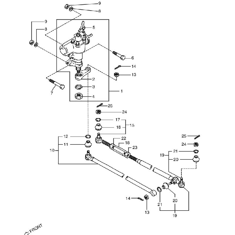 ステアリングユニット パワーステアリングアリ ジムニー JA11 B,H画像