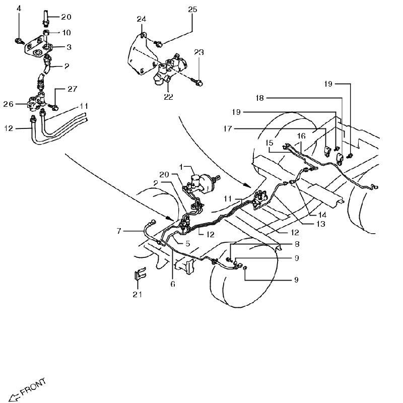 ブレーキパイピング ジムニー JA11画像