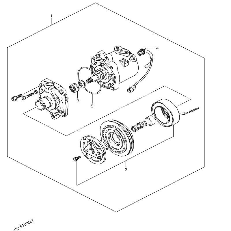 コンプレッサー 1型~3型 エアコン付き ジムニー JA11の画像