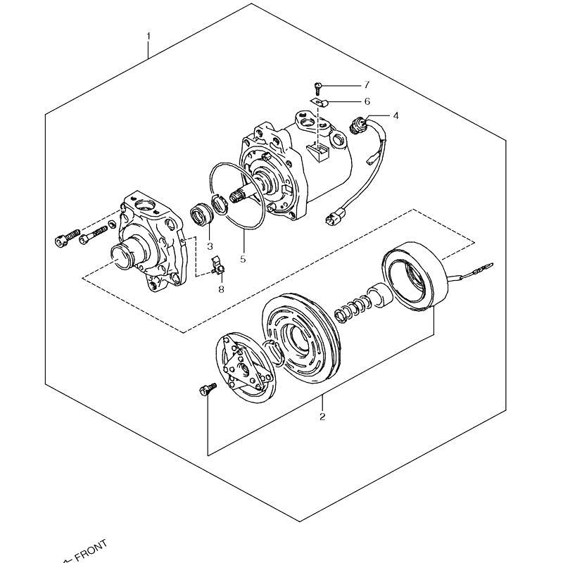 コンプレッサー 4型 エアコン付き ジムニー JA11の画像