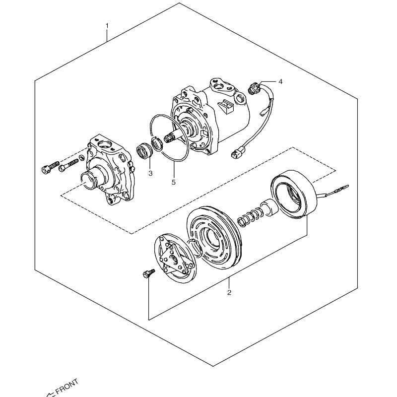 コンプレッサー オプションR12 ジムニー JA11の画像