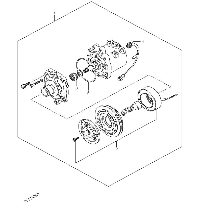 コンプレッサー オプションR12 ジムニー JA11画像
