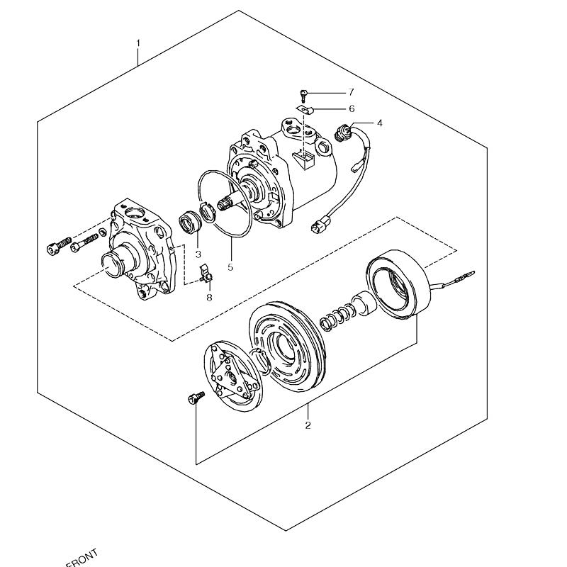 コンプレッサー オプションHFC-134A ジムニー JA11の画像