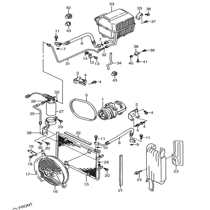 エアコンディショナ 3型 SA,SC エアコンツキ ジムニー JA11の画像