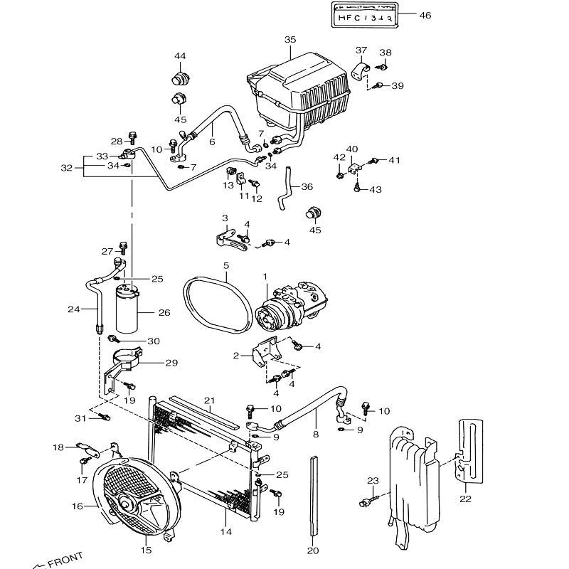 エアコンディショナ 3型SD 4型SE,SA  5型SF  エアコンツキ ジムニーJA11の画像