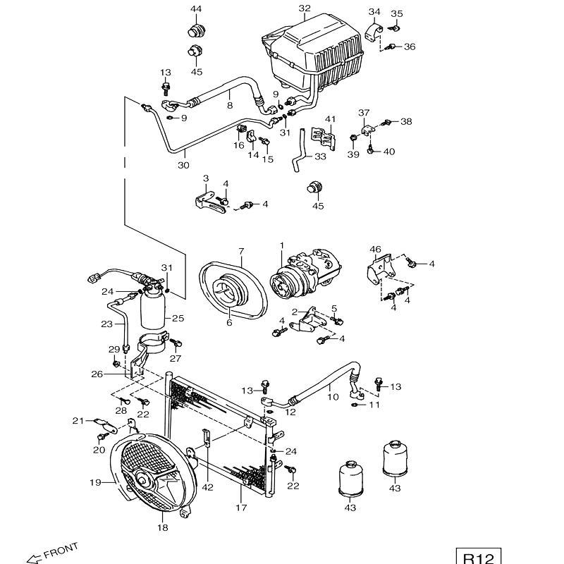 エアコンディショナ AA,CC オプションR12 ジムニー JA11の画像