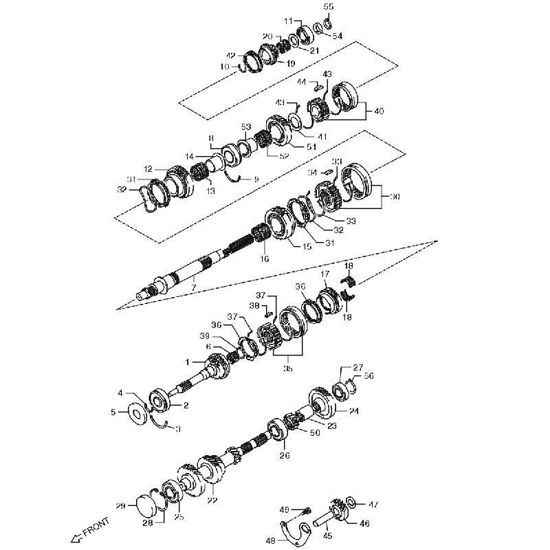 トランスミッションギヤ MT ジムニーJA11の画像