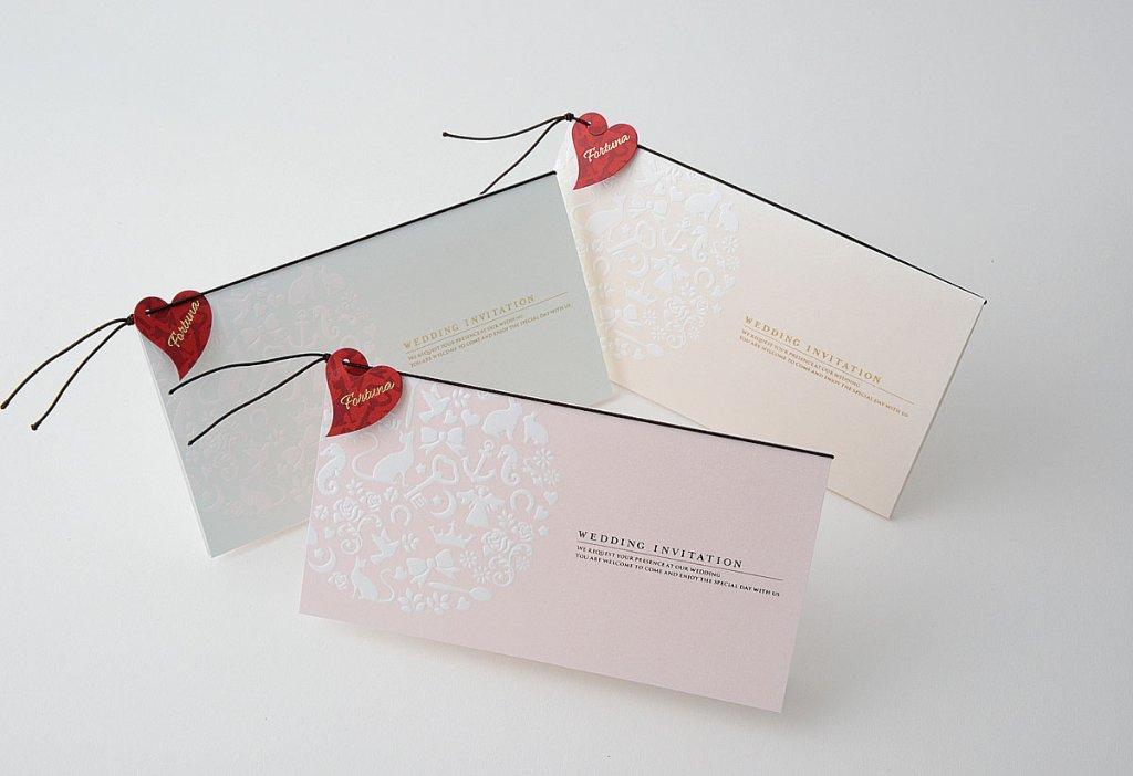 【印刷込】招待状 フォルトゥナ ※封筒宛名印刷可の画像
