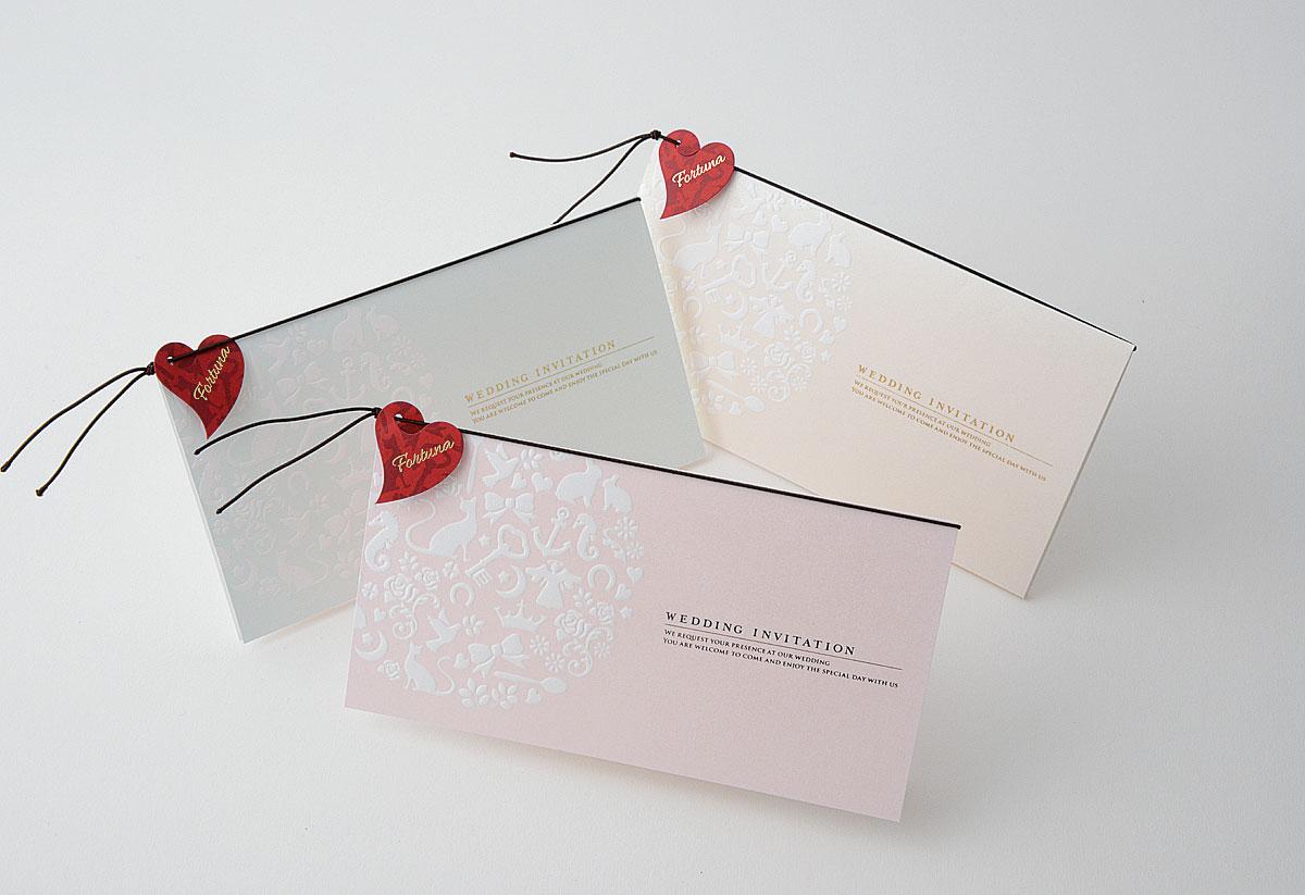 【印刷込】招待状 フォルトゥナ ※封筒宛名印刷可画像