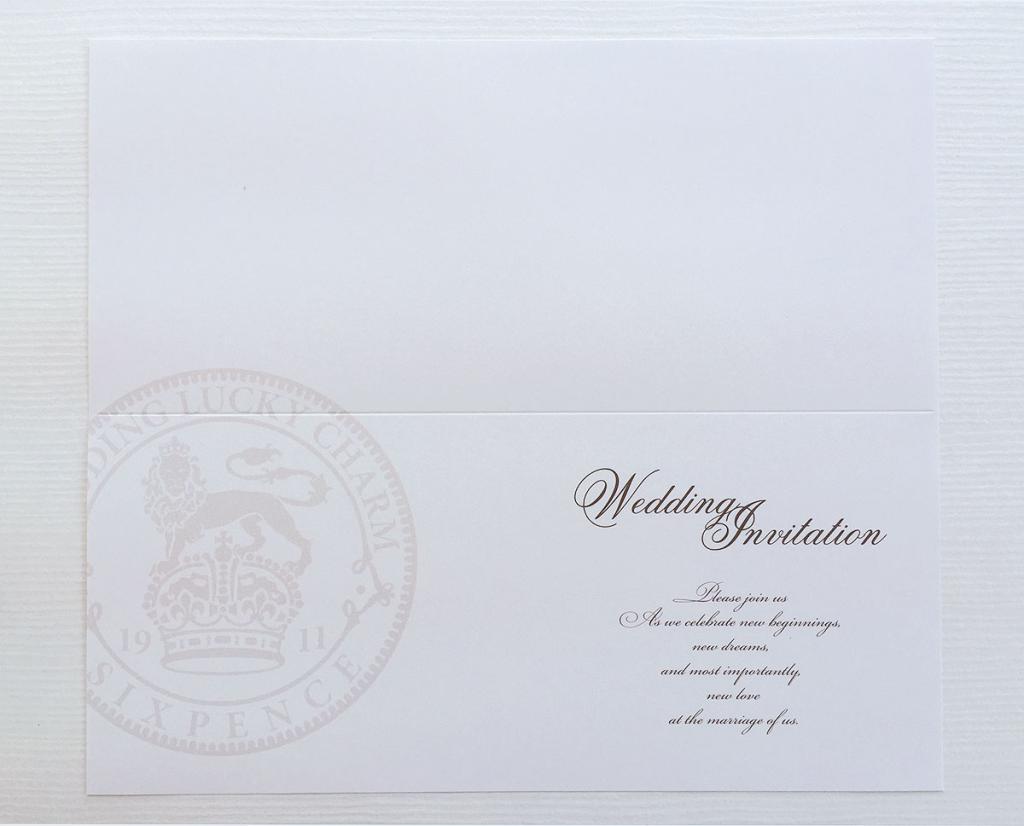 招待状 中紙用紙(シックスペンス)の画像