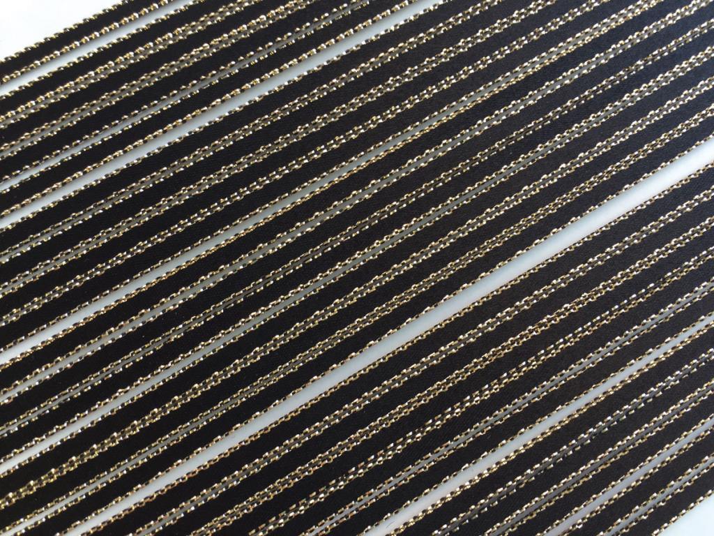招待状リボン紐 3mm幅 ラメサテン(10本入)の画像