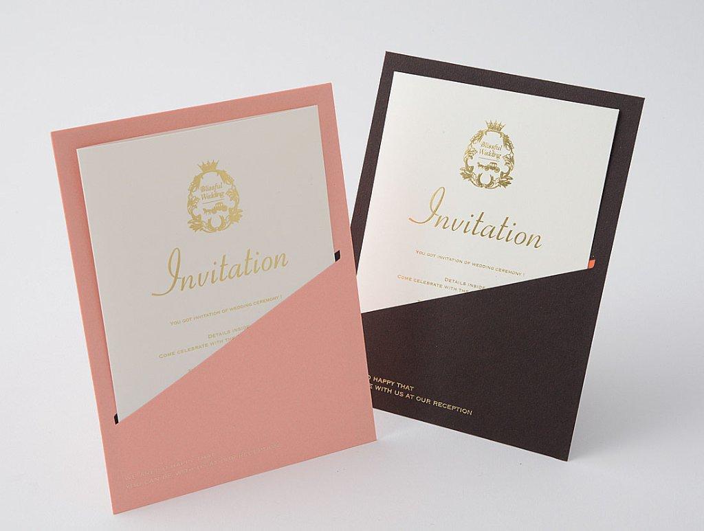 ポケット招待状(印刷なし)の画像