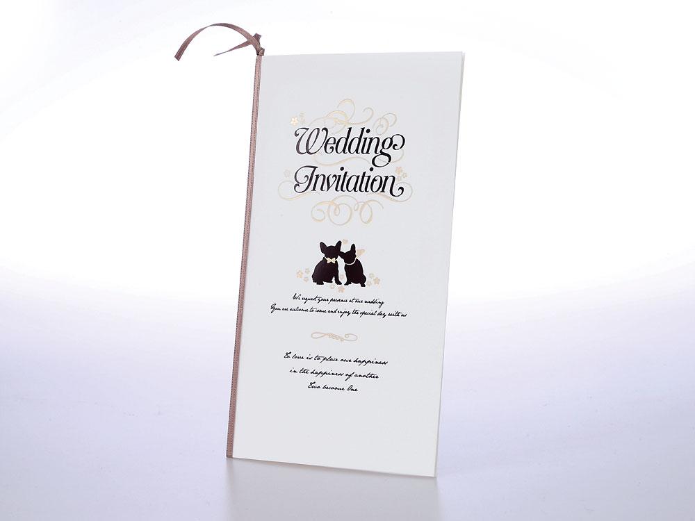 【印刷込】招待状 プレマリー(ドッグ)※宛名印刷可の画像