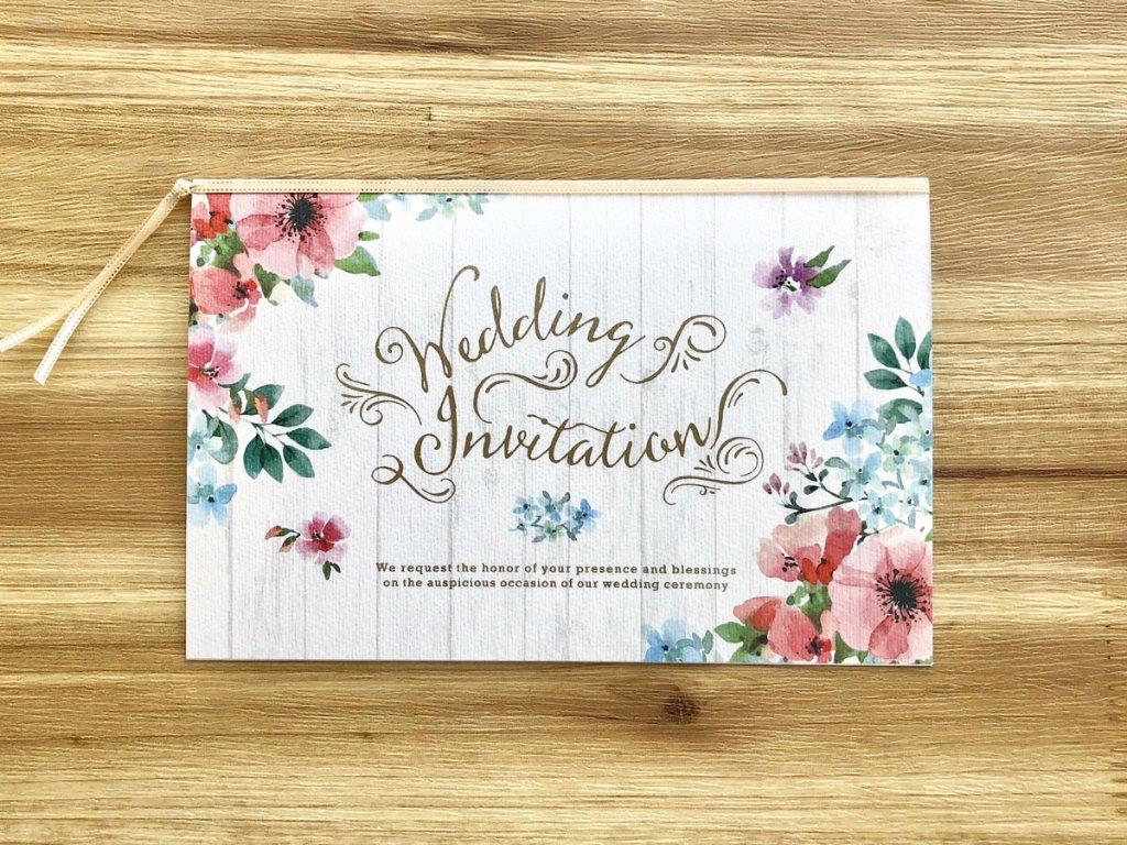 【印刷込】招待状 クラーラ ※封筒宛名印刷可の画像