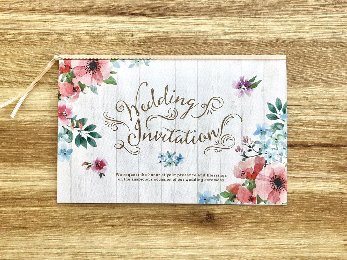 【印刷込】招待状 クラーラ ※封筒宛名印刷可画像