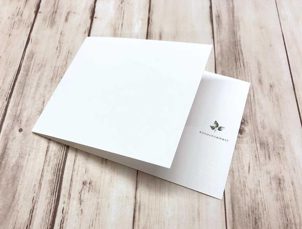 【印刷込】案内状(結婚式延期・中止・規模縮小開催のお知らせ) ※封筒宛名印刷可画像