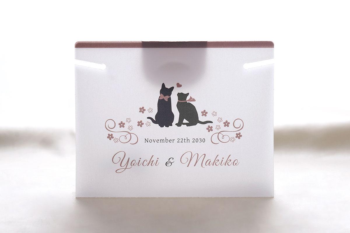 結婚式用 マスクキーパー(プレマリーキャット)画像