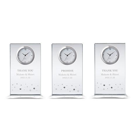 〔三連時計〕ペルメール・ザ・クリスタル 繋がる星の輝き時計画像