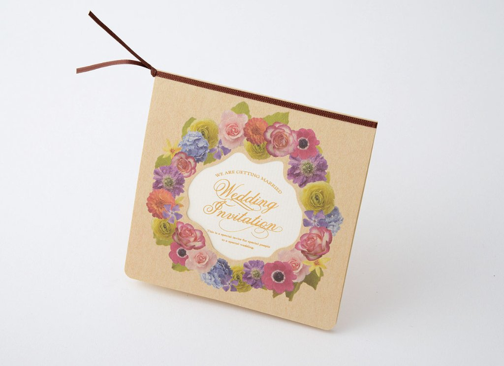 【印刷込】招待状 フローリア ※封筒宛名印刷可の画像