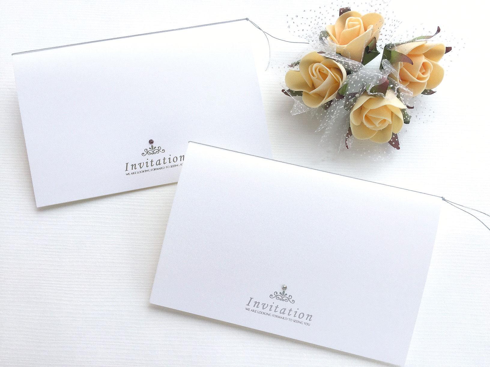 【印刷込】招待状 ティアラ画像