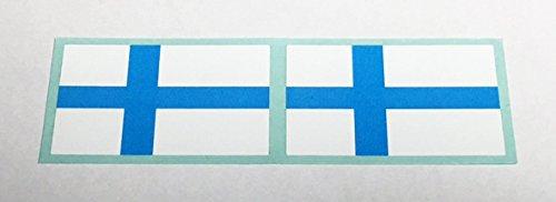 フラッグ型ステッカー フィンランド 2枚セットの画像