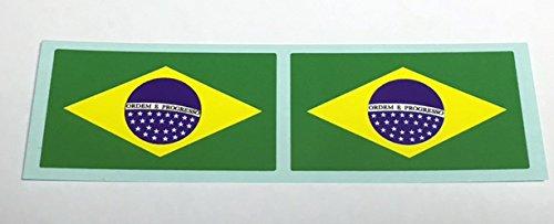 フラッグ型ステッカー ブラジル 2枚セットの画像