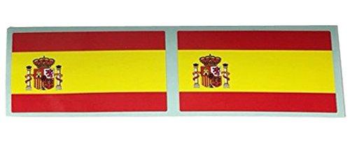 フラッグ型ステッカー スペイン 2枚セットの画像
