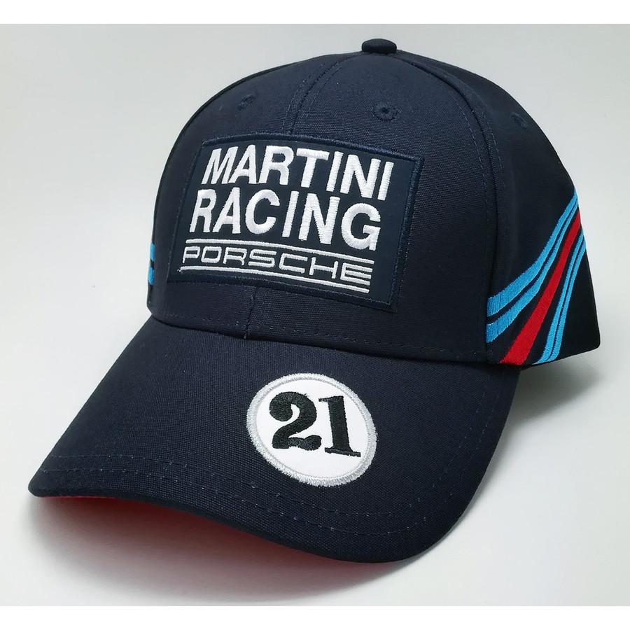 ポルシェ マルティニレーシング #21 キャップ ネイビーの画像