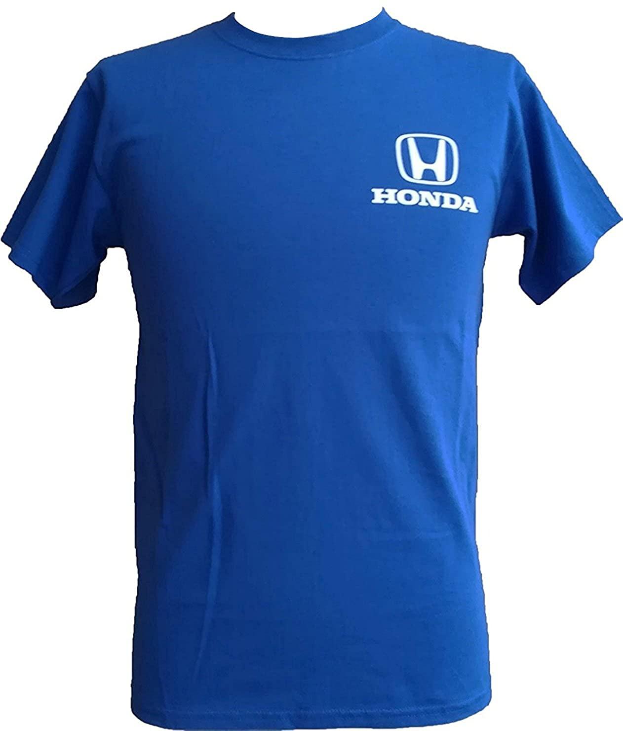 US限定 HONDA クラシックロゴ Tシャツ ブルー画像