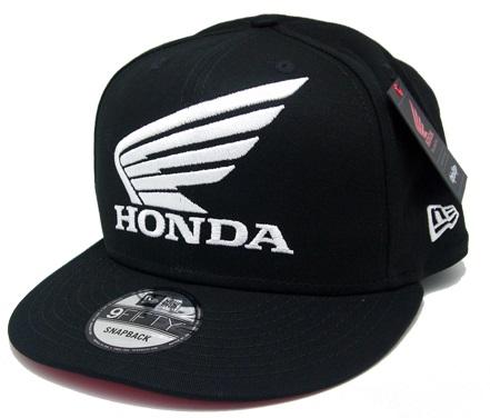US HONDA トロイリーデザイン NEW ERA スナップバックキャップ ブラックの画像