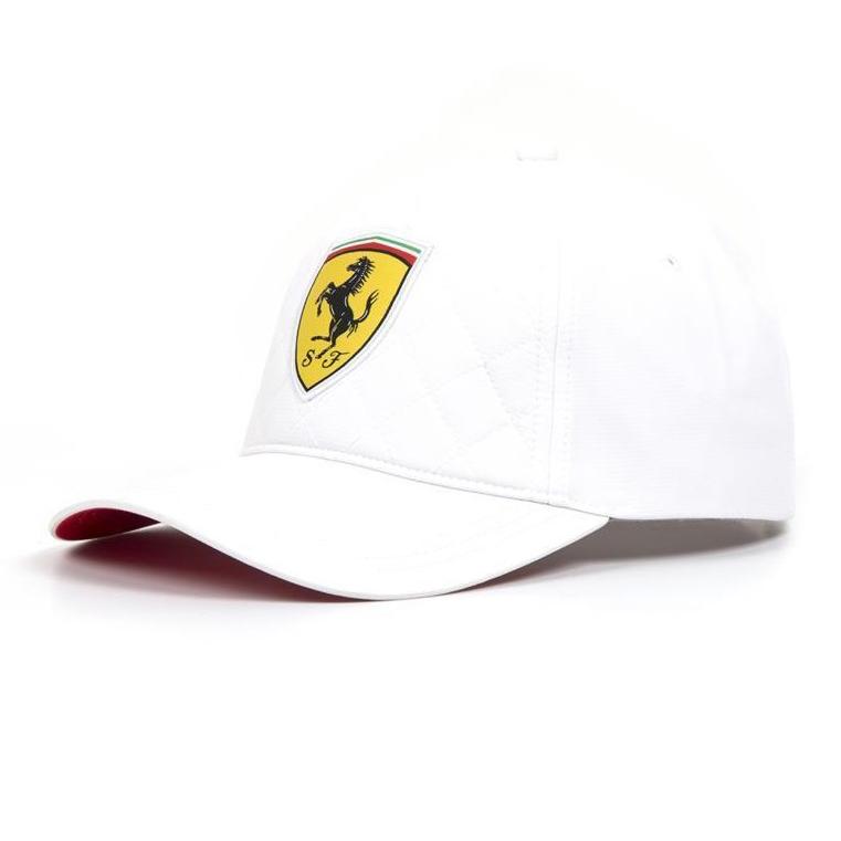 2018 フェラーリ キルトキャップ ホワイトの画像