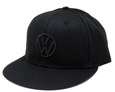 フォルクスワーゲン USA VW ブラック アウト フラットCAPの画像