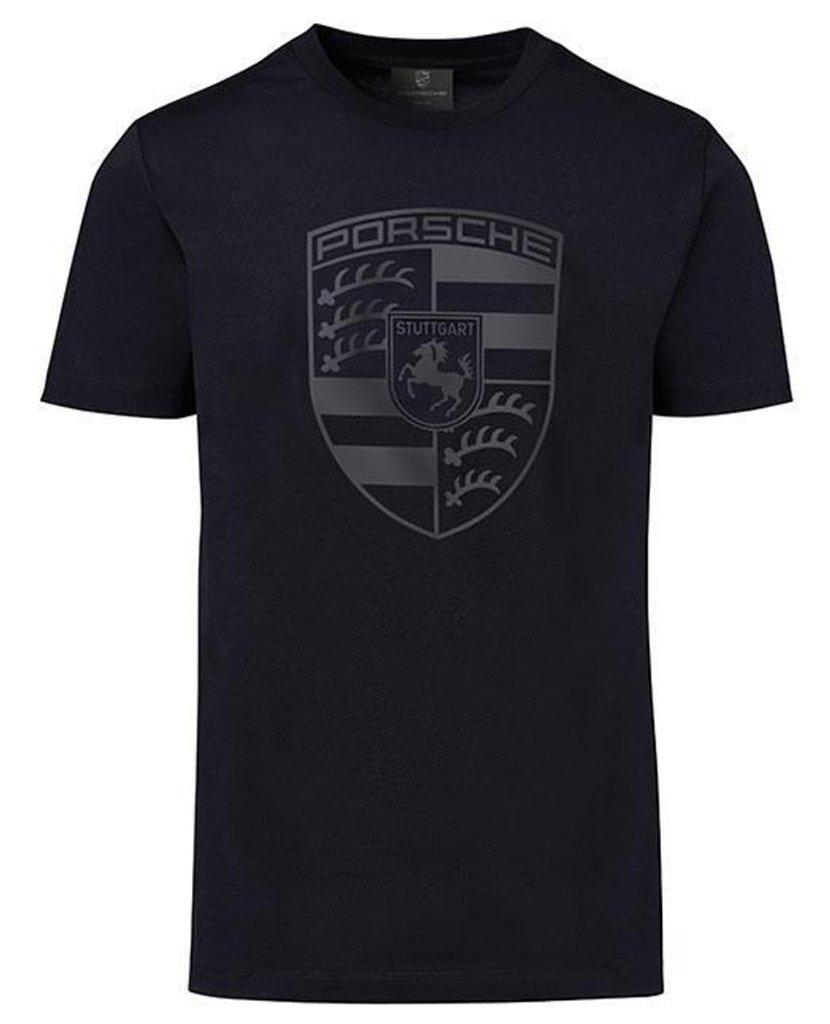ポルシェ クレストロゴ Tシャツ ブラックの画像