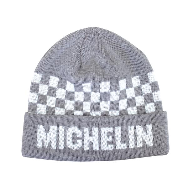 MICHELIN ミシュラン オフィシャル ニットキャップ チェッカー/グレーの画像
