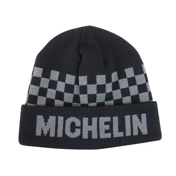 MICHELIN ミシュラン オフィシャル ニットキャップ チェッカー/ブラック画像