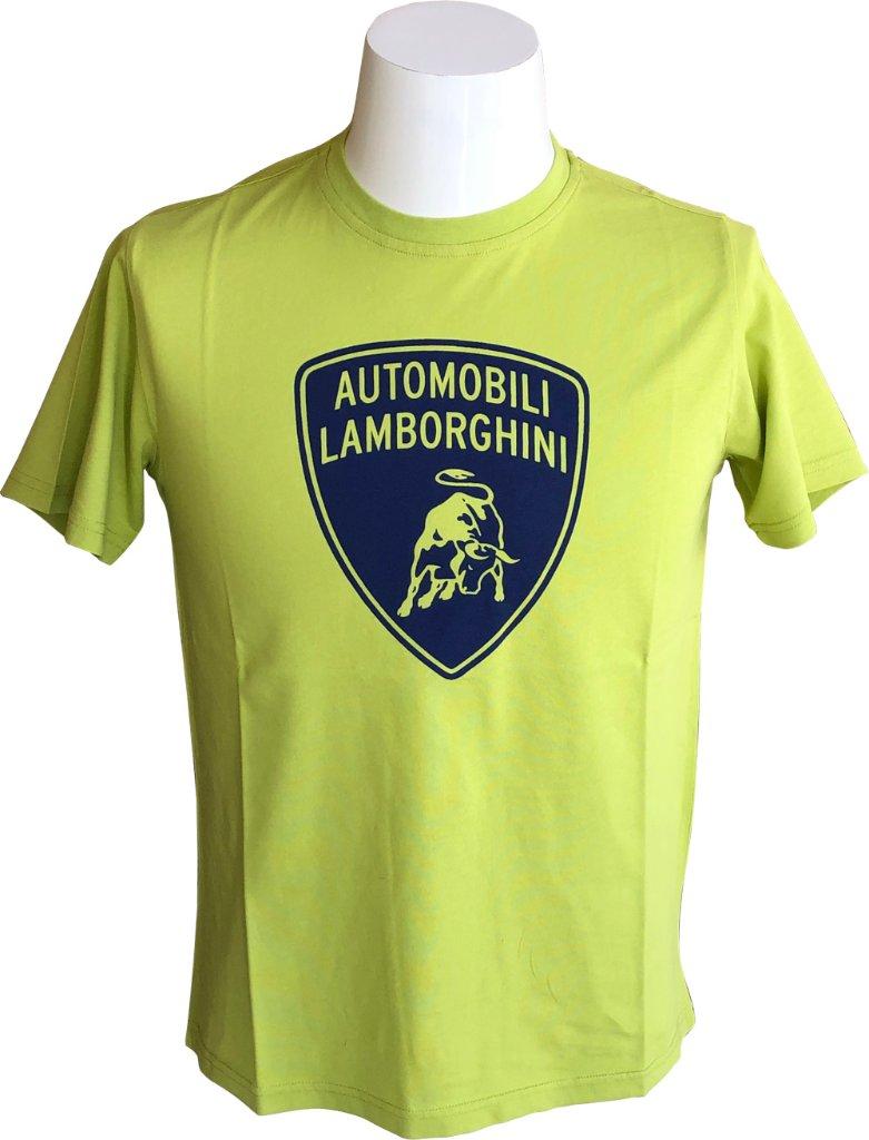 ランボルギーニ シールド Tシャツ ライムの画像