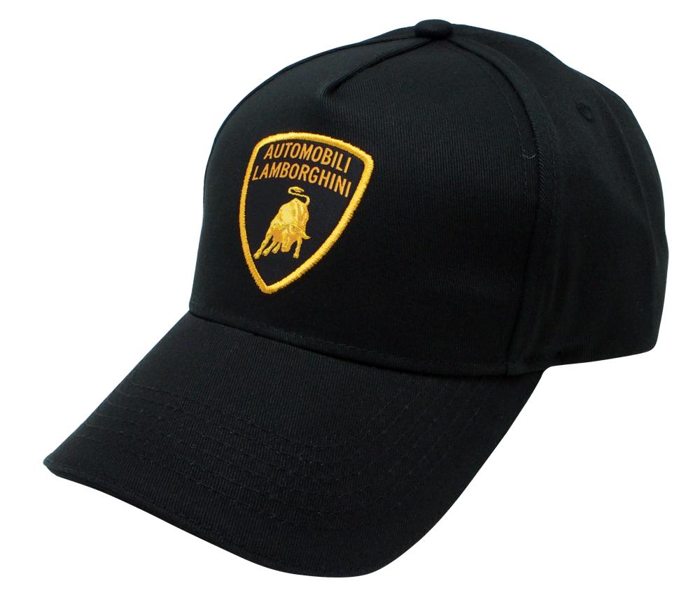 ランボルギーニ シールドエンブレム キャップ ブラック ゴールドエンブレムの画像