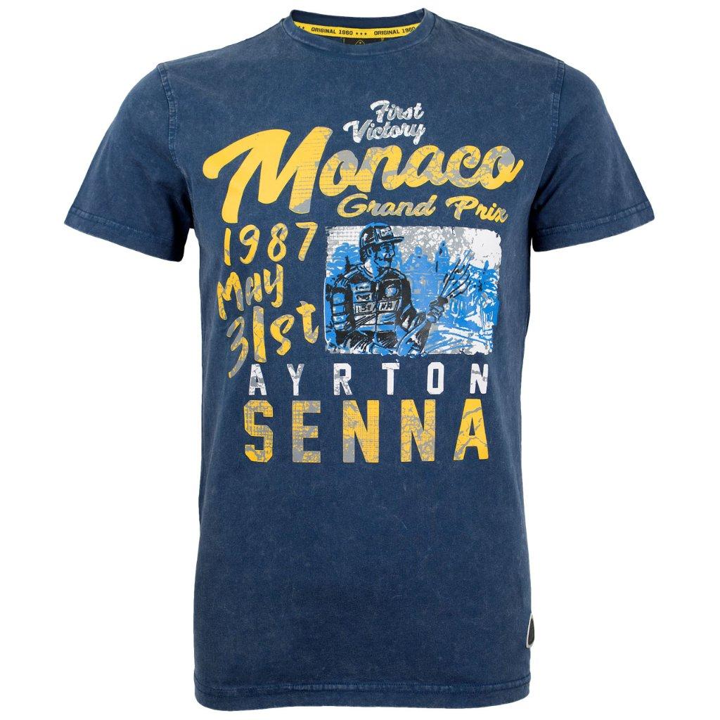 アイルトン・セナ 1987年 モナコ Tシャツの画像