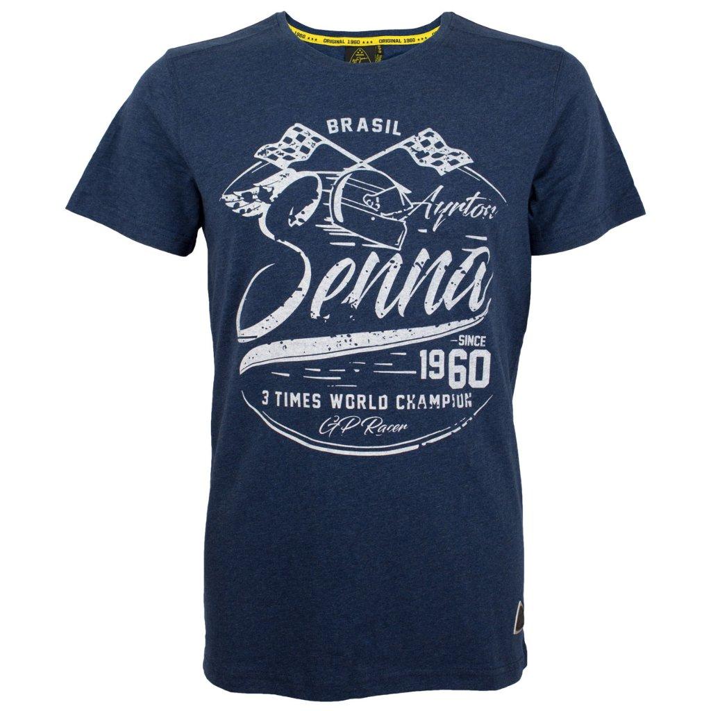 アイルトン・セナ 3 Times Champion Tシャツの画像